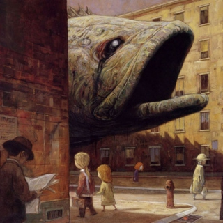the fish at the corner of the street