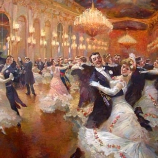 waltzing in the ballroom