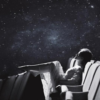 Falling in love on a starry night.