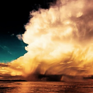 as great clouds burst