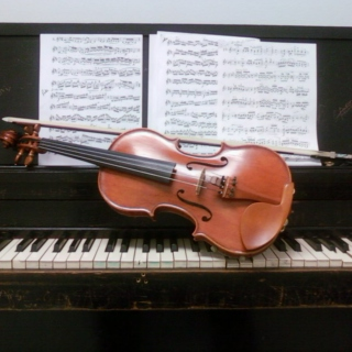 Piano and Violin chill