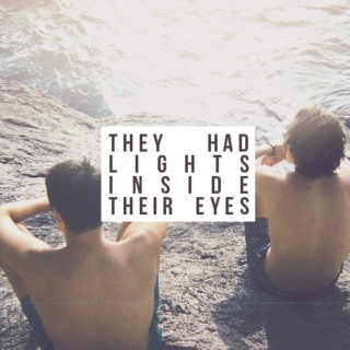 they had lights inside their eyes