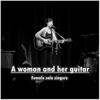 A woman and her guitar