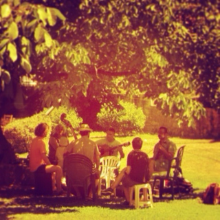 A gathering under the maples
