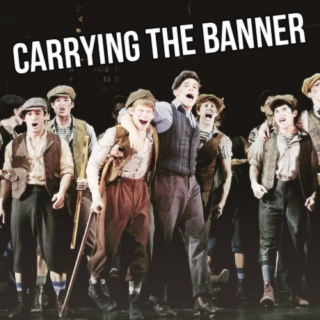 carrying the banner