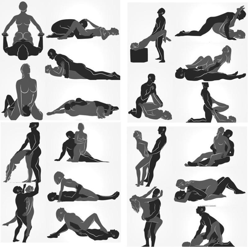 Black white nude silhouette and