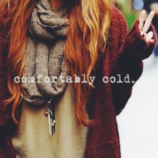 comfortably cold.