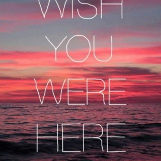 I wish you were here