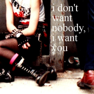 i don't want nobody, i want you