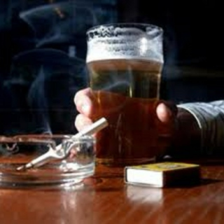cigarettes, alcohol, and a bit of caffeine.