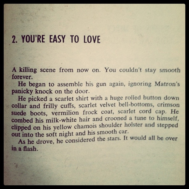 2. You're Easy to Love