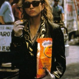 Eating cheese doodles with Madonna.