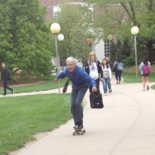 Your Summer Mix Will Never Be As Cool As This Old Guy Skateboarding.