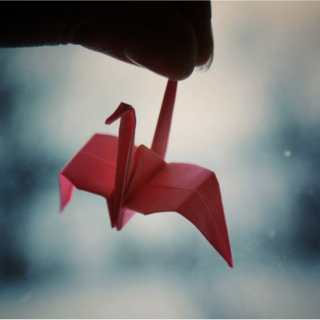 Origami papers and a rainy day.