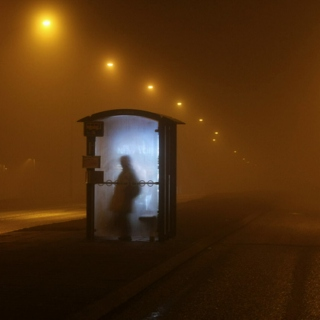 time slows in the fog of the night