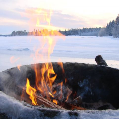 ...to fall in love by a fire on a cold night.