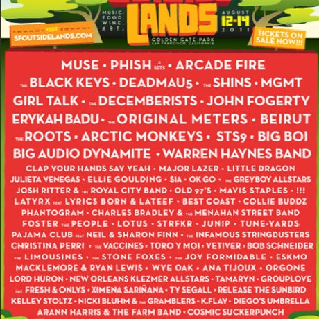 Outside Lands 2011 Sampler
