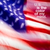 U.S. is the color of my mind.