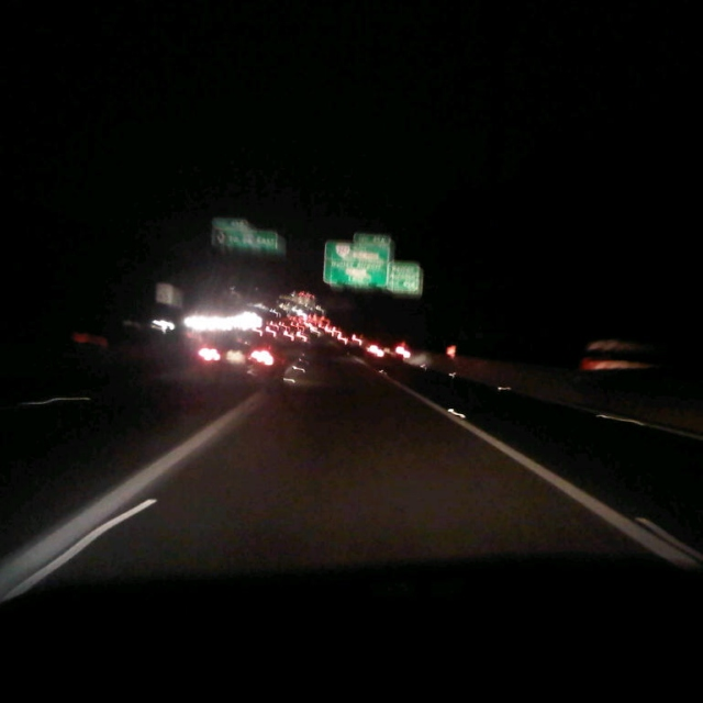 nighttime on I-495 southbound