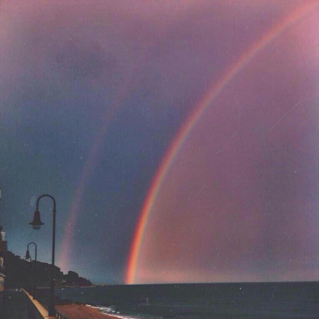 Double rainbow, so bright and vivid!