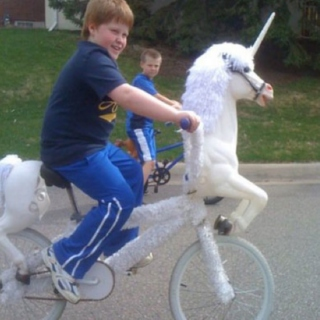 You so would ride a unicorn