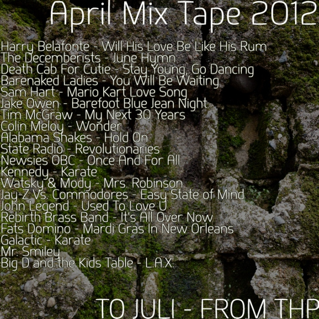 April Mix Tape 2012