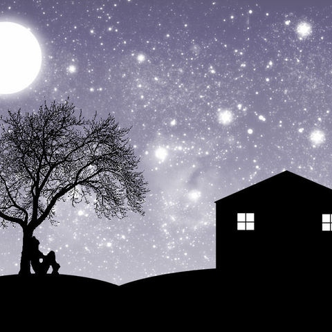 I love sitting under the stars with you on my mind.