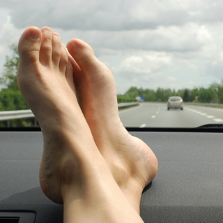 Feet on the Dashboard.