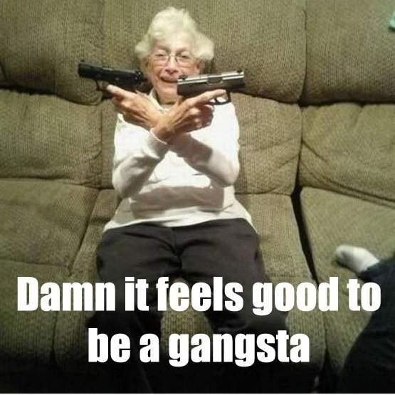 gangsta ass shit.