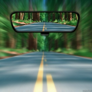 Last glance in the Rearview