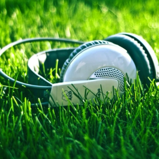 Lay down on the grass with your headphones on.