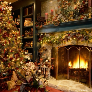 Christmas Night By The Fire
