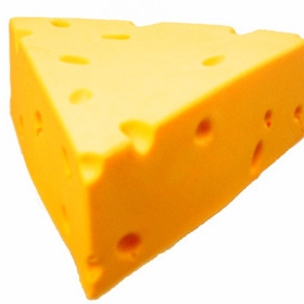 Cheese, because he's lactose intolerant