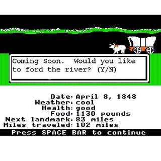 What I do when Oregon Trail needs to load stamina.