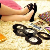 I am on the floor, listening to your records