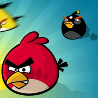 the angry birds mix.