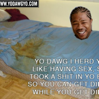 Yo Dawg, I herd you like having sex.