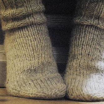 comfy knitted socks