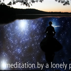 meditation by a lonely pool