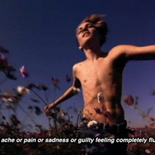 and the ache or pain or sadness or guilty feeling completely flushed out