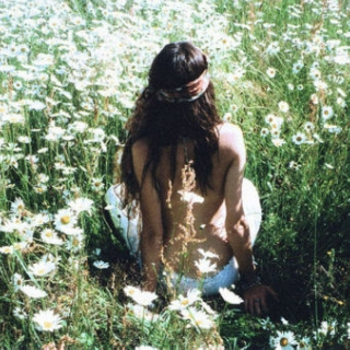 Lay down in the green grass
