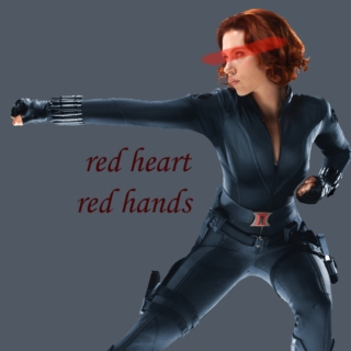 red heart, red hands