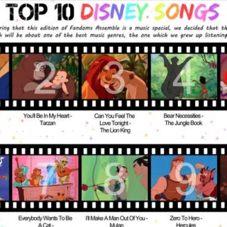Top 10 Disney Songs