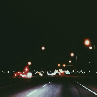 late night drive // time to think