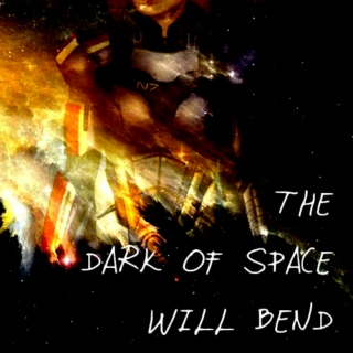 The dark of space will bend