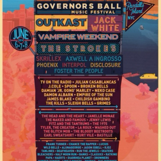 Governor's Ball 2014 Playlist