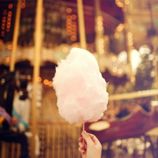as cotton candy...