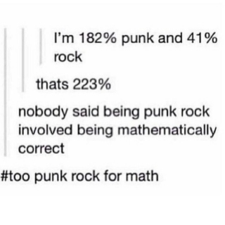 So punk, much rock