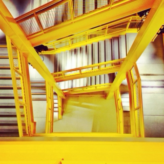 yellow stair road.