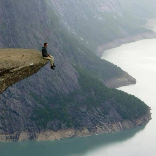 Sitting on the edge chilling
